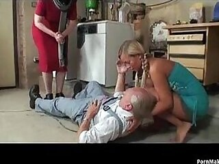blonde-cock-grandpa-granny-old and young-sucking