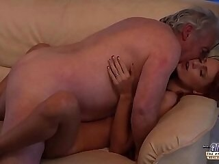 beautiful-grandpa-love-old and young-old man-pussy