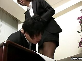 asian-dude-facesitting-lady-office-sissy