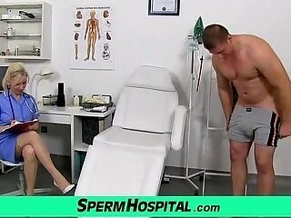 cougar-cum-cum on tits-doctor-legs-nurse
